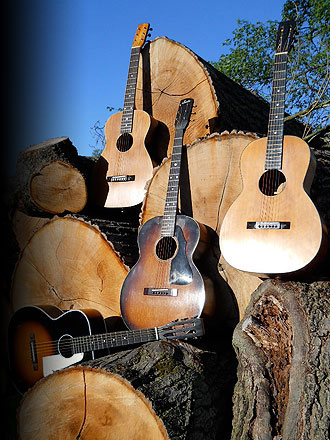 A Selection of Vintage Parlor Guitars
